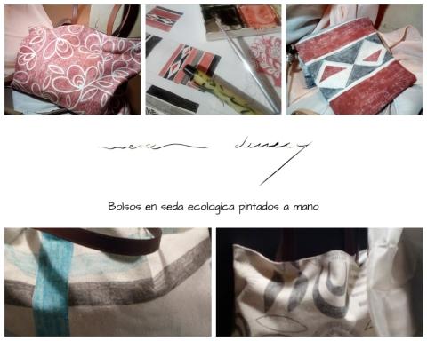 Bolsas de Seda pintadas amano